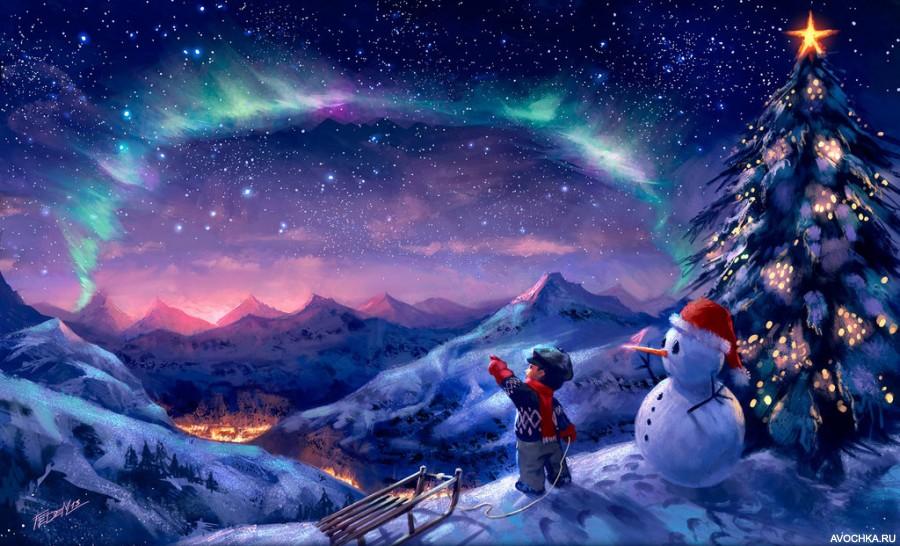 Новогодние планеты картинки